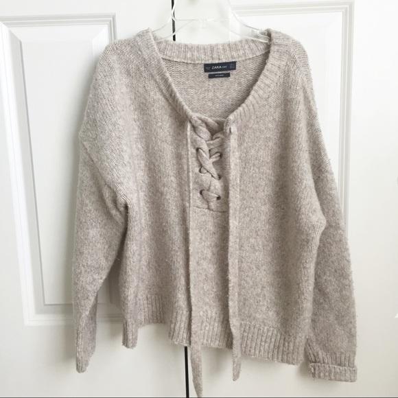 Zara Sweaters - Zara Lace Up Sweater